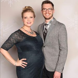 Jessica Simpson Maternity Lace Dress